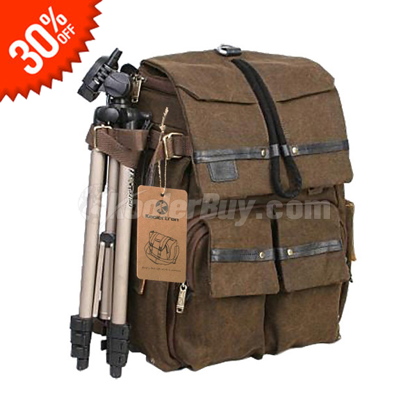 large canvas camera backpack