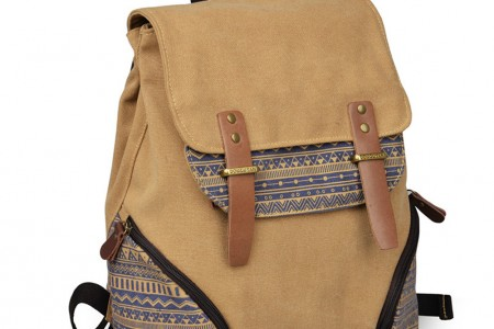 New Men/Women Print Canvas Backpack Released...